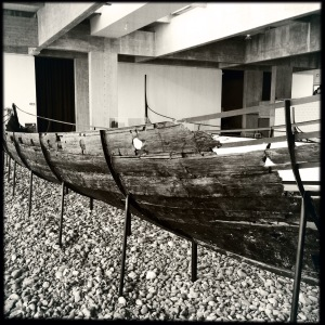Remains of Viking longboat, Roskilde Ship Museum